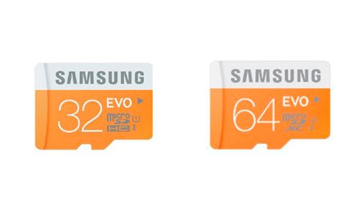 Tarjetas micro SD Samsung EVO