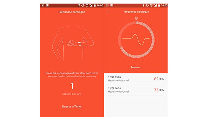 Xiaomi Mi-Band 1S Pulse Gráficas